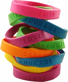 Inspirational Sayings Gel Bracelets 12 Pack (Only 42� each!)