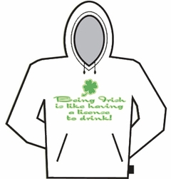 Irish License To Drink Hoodie
