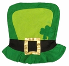 Irish Shamrock Felt Top hat with Gold Buckle