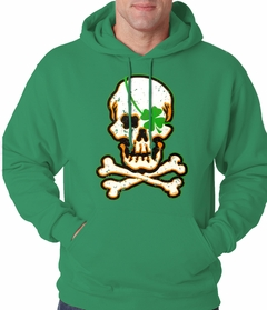 Irish Shamrock Skull and Crossbones Hoodie