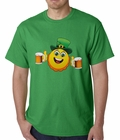 Irish St. Patrick's Day Drinking Leprechaun Emoji Mens T-shirt