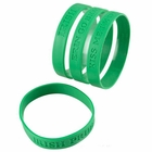 Irish St. Patrick's Day Rubber Sayings Bracelet (24 Pack)