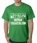 Irish Triathlon Funny St. Patrick's Day Mens T-shirt