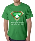Irishman Saving The World One Drink At a Time Mens T-shirt