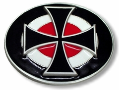 Iron Cross Bullseye Buckle With FREE Belt