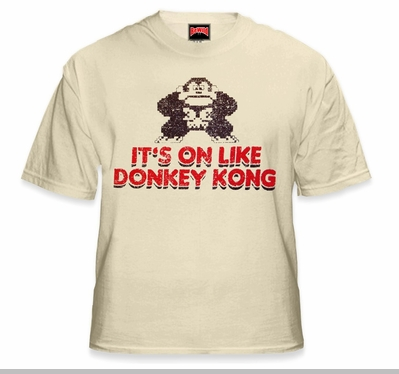 It's On Like Donkey Kong T-Shirt :: Vintage Gamer Tee<!-- Click to Enlarge-->