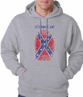 It's Who I Am Confederate Flag Thumb Print Adult Hoodie