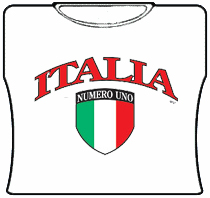 Italia Numero Uno Girls T-Shirt