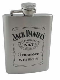 Jack Daniels 3.3oz Stainless Steel Flask