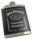 Jack Daniels Black Label 6oz Stainless Steel Flask