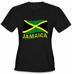 Jamaica Vintage Flag Girl's T-Shirt