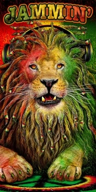 Jammin Rasta Lion Beach & Bath Towel (30x60 Inches)