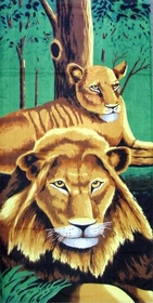 Jungle Lions Beach & Bath Towels