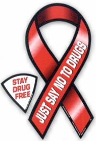 Just Say No To Drugs Ribbon Magnet