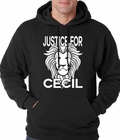 Justice For Cecil The Lion Adult Hoodie