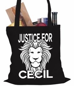 Justice For Cecil The Lion Tote Bag