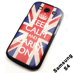Keep Calm And Carry On British Flag Case For Samsung Galaxy S4