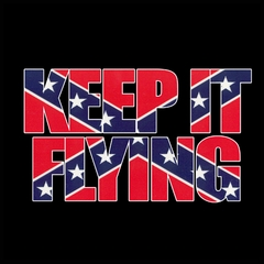 Keep It Flying (Confederate Flag Inside Words) Mens T-shirt