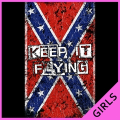 Keep It Flying Confederate Flag Ladies T-shirt