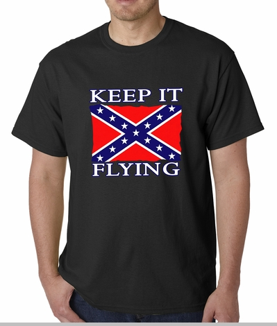 Keep It Flying Confederate Flag Mens T-shirt<!-- Click to Enlarge-->