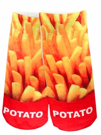 Kids & Adults Photo Print Ankle Socks - French Fries