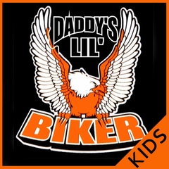 Kids Biker Shirts - Daddy's Lil'  Biker Shirt