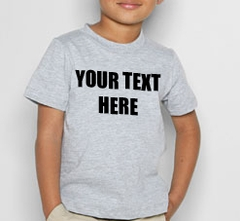 Kids Custom Saying T-Shirt (Grey)