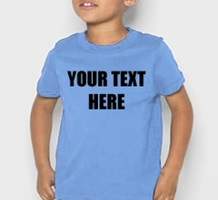 Kids Custom Saying T-Shirt (Lt Blue)