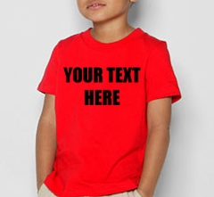Kids Custom Saying T-Shirt (Red)