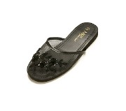 Kids Mesh Chinese Slipper (Black)