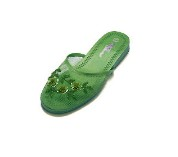 Kids Mesh Chinese Slippers (Olive Green)