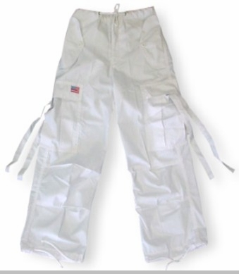 Kids Unisex Basic UFO Pants (White)