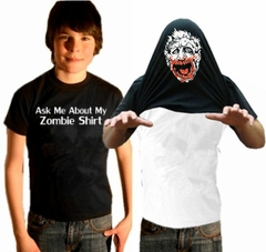 Halloween Costume T-Shirt - Ask Me About My Zombie Shirt Youth T-Shirt