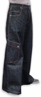 "Kikwear Jeans - Kikwear 30"" Wide Leg Pants (Black Denim)"