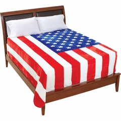 """King / Queen Size Plush Thick American Flag Blanket (79"""" x 91"""")"""