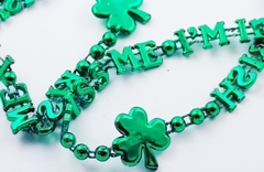 Kiss Me I'm Irish Green Party Necklace