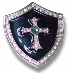 Knight Shield Cross Buckle With FREE Belt