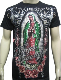 "Konflic Clothing ""Vision of Guadalupe"" T-Shirt (Black)"