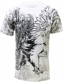 Konflic Winged Sword T-shirt (White)
