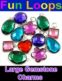 Large Gemstone Charms For Rainbow Loom Bracelets (Set Of 12)