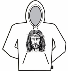 Large Jesus Crown Of Thorns Hoodie