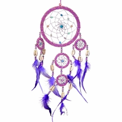 Large Purple Beaded Dream Catcher