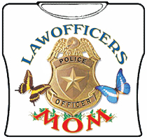 Law Officers Mom Girls T-Shirt