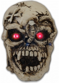 LED Light Up Evil Skull Belt Buckle