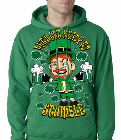 Leprechaun Let's Get Ready To Stumble Adult Hoodie