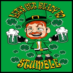 Leprechaun Let's Get Ready To Stumble Mens T-shirt