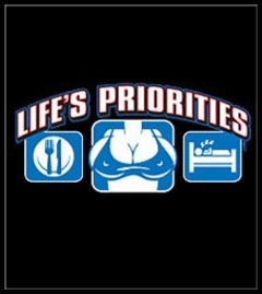 Lifes Priorities Big Breasts T-Shirt