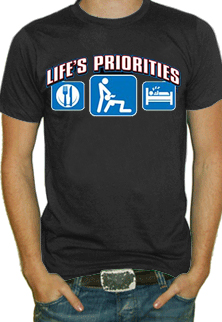 Lifes Priorities Eat Sleep And Get Some Head T Shirt
