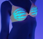 Light Up Bra Skeleton Hands Hold Breast - Great for Parties