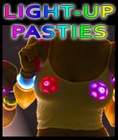 Light-Up Color Changing LED Nipple Pasties as Worn by Miley Cyrus